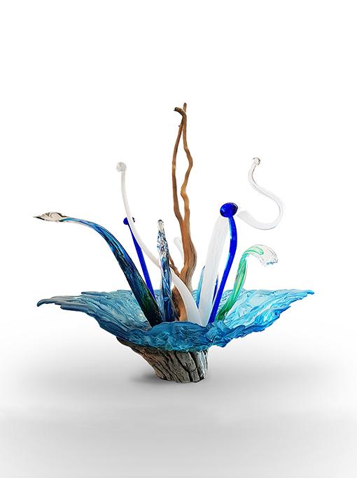 Glass sculpture by artist, Lisa de Boer.