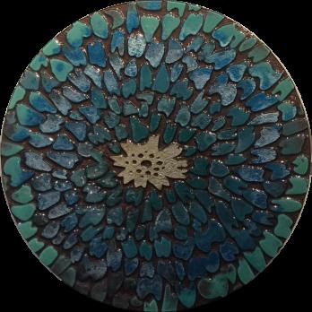 Blue Aztec Pebbles