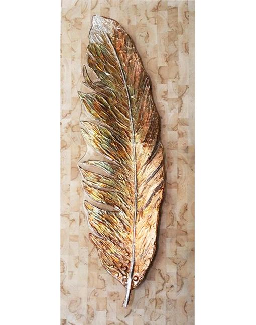 Gold glass leaf by glass artist Lisa de Boer.