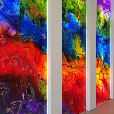 Rainbow wall of love